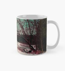A snowy trail and some trees Mug