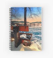 View into winter scenery Spiral Notebook