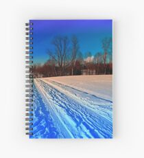 Traces on a winter hiking trail Spiral Notebook