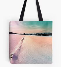 The field and the village Tote Bag