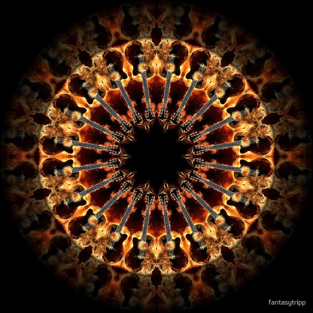 Flame Guitar Kaleidoscope 01 by fantasytripp