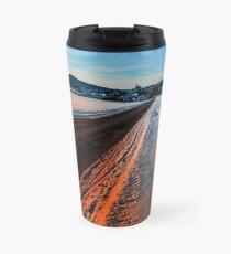 Winter road at sundown Travel Mug