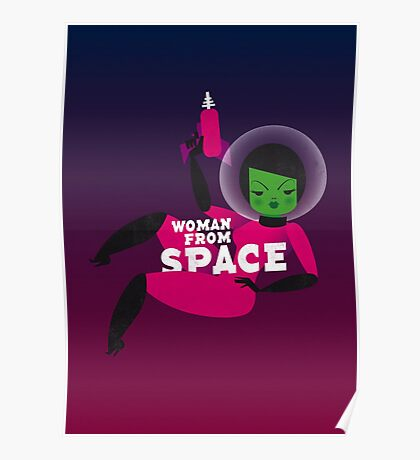 Woman from space Poster