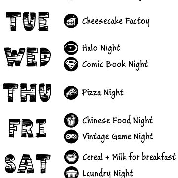 TBBT - Sheldon's weekly schedule by Yithian