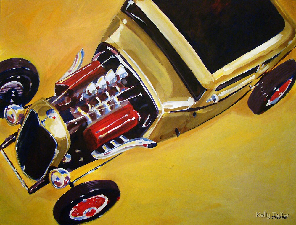 '32 Ford with Red Valve Covers' Street Rod by Kelly Telfer