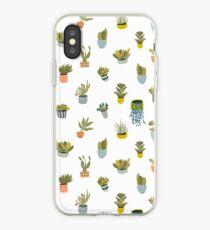 Kaktus-Töpfe iPhone-Hülle & Cover