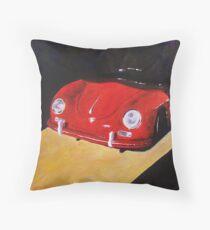 'Speedster Barn Find' 1950's Classic Porsche Throw Pillow