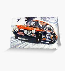 'Monte Carlo Rallye Porsche 911' Porsche Greeting Card