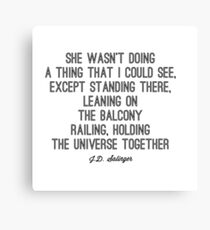 Favorite Salinger Quote Canvas Print