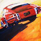 'Red Early 911' Porsche by Kelly Telfer