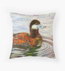 Ruddy Duck Throw Pillow