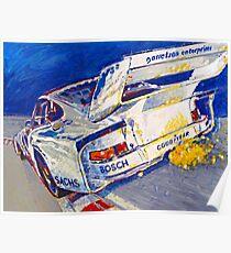 'Canepa Attacking the Corkscrew (935 Porsche)' Racing  Poster