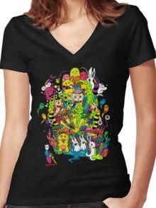 LSD Color Women's Fitted V-Neck T-Shirt
