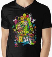 LSD Farbe T-Shirt mit V-Ausschnitt für Männer