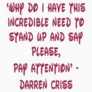 Darren Criss Human Quote by rachick123
