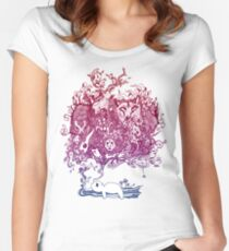 Dreaming Bear  Women's Fitted Scoop T-Shirt