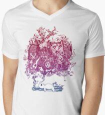 Dreaming Bear  Men's V-Neck T-Shirt