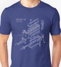 Nissan L6 White Print Unisex T-Shirt