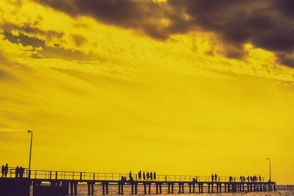 Yellow Pier by John Violet