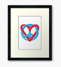 Peace + Love Framed Print