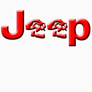 JEEP SKULLS Red by thatstickerguy