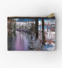 Quiet river in winter time Studio Pouch