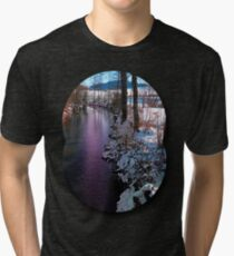Quiet river in winter time Tri-blend T-Shirt