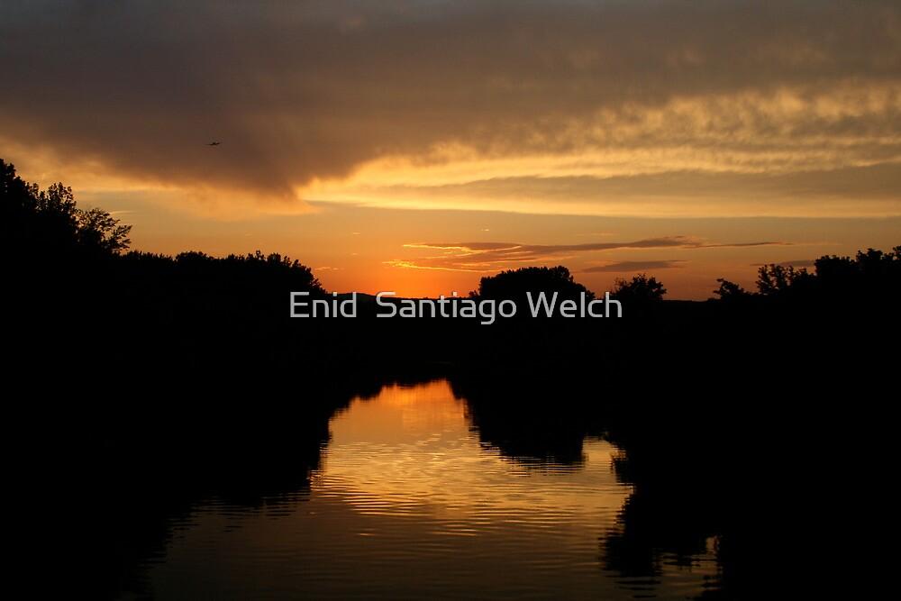 Orange Sky by Enid  Santiago Welch