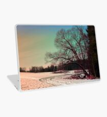 A snowy trail and some trees Laptop Skin