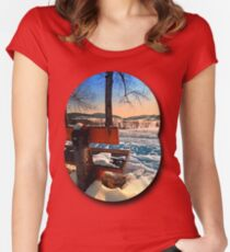 View into winter scenery Women's Fitted Scoop T-Shirt
