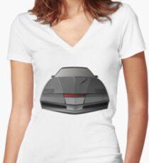 Knight Rider KITT Car  Women's Fitted V-Neck T-Shirt