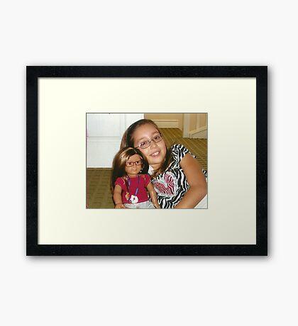 "Presenting Alexandra & her ""Mini-Me"" Alexis:-)! Framed Print"