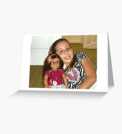 "Presenting Alexandra & her ""Mini-Me"" Alexis:-)! Greeting Card"