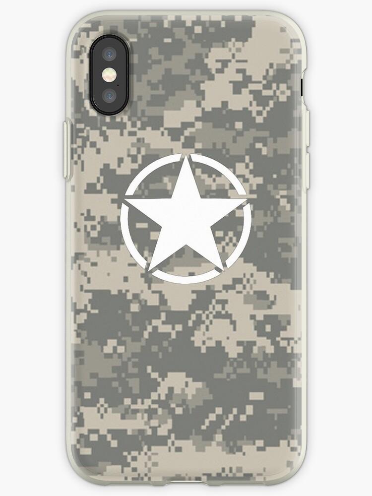 Digital Camo Army Invasion Star by thatstickerguy