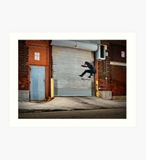 Marty Murawski - Frontside Flip - Chicago - Photo Bart Jones Art Print