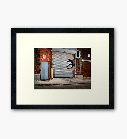 Marty Murawski - Frontside Flip - Chicago - Photo Bart Jones Framed Print