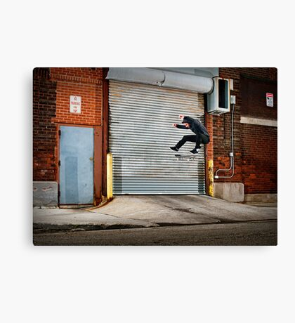 Marty Murawski - Frontside Flip - Chicago - Photo Bart Jones Canvas Print