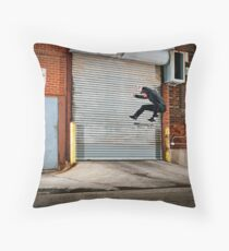 Marty Murawski - Frontside Flip - Chicago - Photo Bart Jones Throw Pillow