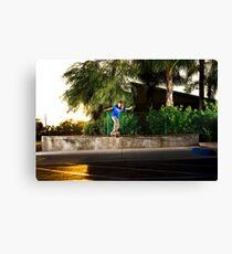 Neen Williams - Backside Tailslide - Santa Ana, CA - Photo Bart Jones Canvas Print