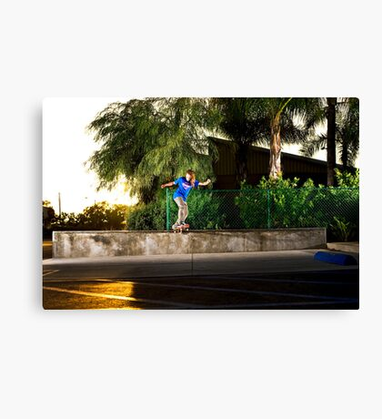 Neen Williams - Backside Tailslide - Santa Ana, CA - Photo Bart Jones Canvas Print