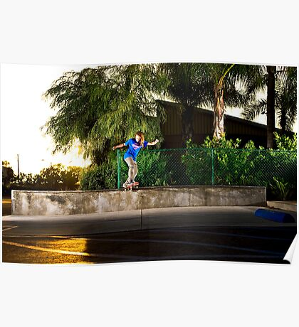 Neen Williams - Backside Tailslide - Santa Ana, CA - Photo Bart Jones Poster