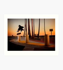 Pat Pasquale - Frontside Heelflip - Huntington Beach, CA - Photo Bart Jones Art Print