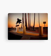 Pat Pasquale - Frontside Heelflip - Huntington Beach, CA - Photo Bart Jones Canvas Print