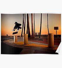 Pat Pasquale - Frontside Heelflip - Huntington Beach, CA - Photo Bart Jones Poster