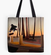 Pat Pasquale - Frontside Heelflip - Huntington Beach, CA - Photo Bart Jones Tote Bag