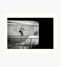 Patrick Melcher - Bluntslide to Fakie - Sacramento - Photo Bart Jones Art Print
