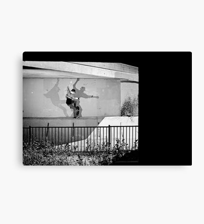 Patrick Melcher - Bluntslide to Fakie - Sacramento - Photo Bart Jones Canvas Print