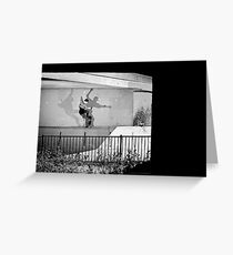 Patrick Melcher - Bluntslide to Fakie - Sacramento - Photo Bart Jones Greeting Card