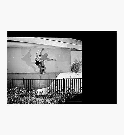 Patrick Melcher - Bluntslide to Fakie - Sacramento - Photo Bart Jones Photographic Print