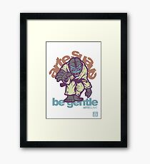 Be Gentle - Jiu Jitsu Gorilla Framed Print